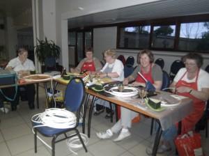 KAV Stene Oostende Bloemschikken cursus moederdag mei 2012