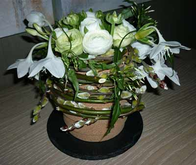 bloemstuk lente Rosette