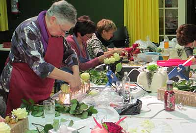 bloemschikken cursus Sijsele tafeldecoratie eindejaar