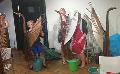 workshop tuindecoratie wilgentenen vogel Gistel