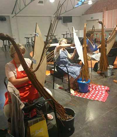workshop wilgentenen tuindecoratie vogel Sijsele