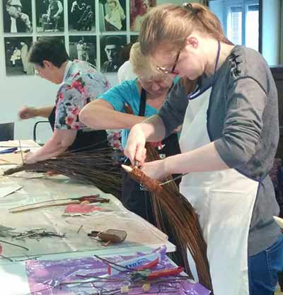 workshop wilgentenen vogel tuindecoratie Brugge Sijsele Gistel Oostende Roeselare Ardooie Maldegem